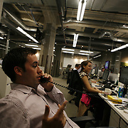 Groupon's headquarters in the former Montgomery Wards' catalog warehouse,  Tuesday August 31, 2010..Jose More Photography...