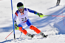 CUCHE Robin, LW9-2, SUI, Slalom at the WPAS_2019 Alpine Skiing World Cup Finals, Morzine, France