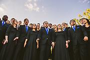 Choir practices on Herak Lawn. (GU photo)