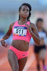 31-07-2015 NED: Asics NK Atletiek, Amsterdam<br /> Nk outdoor atletiek in het Olympische stadion Amsterdam /  Jamile Samuel op de 100 meter