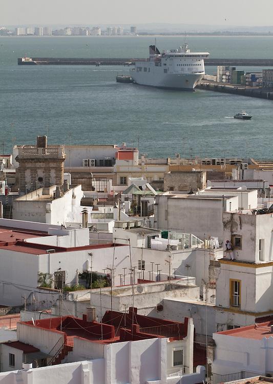 Cadiz bay, Andalucía, Spain.