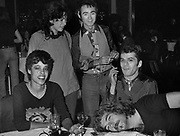 Ian Dury with BP Fallon, Huey Lewis and Denise at a Thin Lizzy party