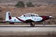 Israeli Air force Flight Academy Beechcraft T-6A Texan II at take off
