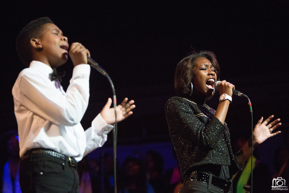 """Jared Shears and Rachel Webb perform """"I Dream Of Peace"""" during the 30th Annual Black Music & the Civil Rights Movement Concert at the Morton H. Meyerson Symphony Center in Dallas, Texas, on January 20, 2013.  (Stan Olszewski/The Dallas Morning News)"""