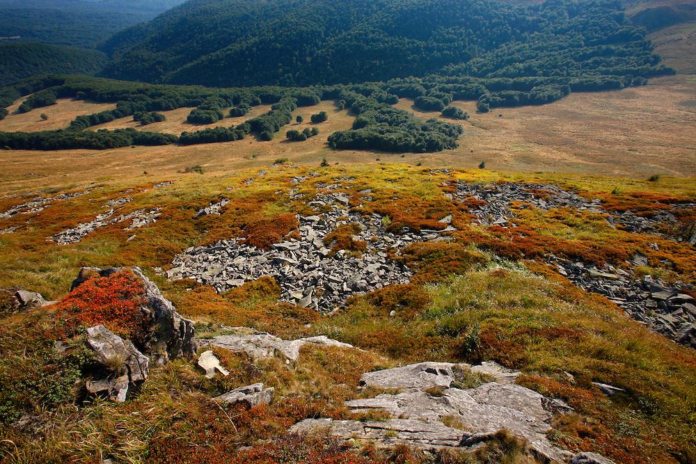Rocks on Krzemien Peak, Bieszczady National Park, Poland