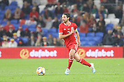 Wales midfielder Joe Allen during the Friendly match between Wales and Belarus at the Cardiff City Stadium, Cardiff, Wales on 9 September 2019.