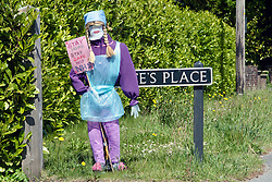 NHS scarecrow figure during Coronavirus lockdown Dorset UK May 2020