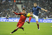 FOOTBALL - INTERNATIONAL FRIENDLY GAMES 2011/2012 - FRANCE v BELGIUM - 15/11/2011 - PHOTO JEAN MARIE HERVIO / DPPI - JELLE VOSSEN (BEL) / YOHAN CABAYE (FRA)
