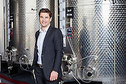 Portrait of Guillaume Rickaert - Raphael Michel's CEO - Rhone Valley's largest wine blender and merchant - In their wine cellar in Piolenc - France - 2013/04/02 - © D.Dalmasso