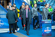 Craig Levein (centre) before the Betfred League Cup semi-final match between Heart of Midlothian FC and Celtic FC at the BT Murrayfield Stadium, Edinburgh, Scotland on 28 October 2018.