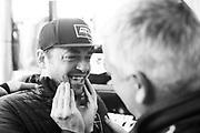 January 25-26, 2020. IMSA Weathertech Series. Rolex Daytona 24hr. Paul Miller Racing Lamborghini Huracan GT3, Corey Lewis celebrates winning the 58th Rolex 24h.