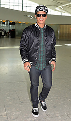 Singer Bruno Mars departs Heathrow Airport for the US, United Kingdom, Thursday, 20th February 2014. Picture by David Dyson / i-Images
