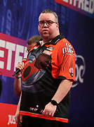 Stephen Bunting during the World Matchplay Darts 2019 at Winter Gardens, Blackpool, United Kingdom on 24 July 2019.