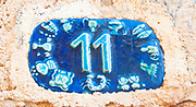 Ceramic number with the number eleven