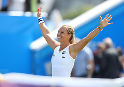 Dominika Cibulkova of Slovakia celebrates after winning the Aegon International Eastbourne final against Karolina Pliskova ( not pictured ) of Czech Republic - Mandatory by-line: Paul Terry/JMP - 25/06/2016 - TENNIS - Devonshire Park - Eastbourne, United Kingdom - Dominika Cibulkova v Karolina Pliskova - Aegon International Eastbourne