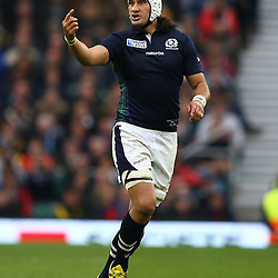 LONDON, ENGLAND - OCTOBER 18: Blair Cowan of Scotland during the Rugby World Cup Quarter Final match between Australia v Scotland at Twickenham Stadium on October 18, 2015 in London, England. (Photo by Steve Haag)
