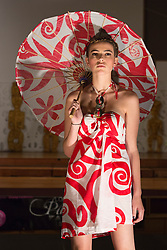 © Licensed to London News Pictures. 05/10/2012. London, England. Fashion by designer Hupfeld Hoerder from Fiji. London Pacific Fashion Show at the Salvation Army Hall in Oxford Street. The fashion show featured designers from New Zealand and the South Pacific region with 60 models and 4 dance groups. The show was in support of the Help for Heroes charity. Help for Heroes provides direct, practical support to wounded, injured and sick Service personnel, veterans, and their families. Photo credit: Bettina Strenske/LNP
