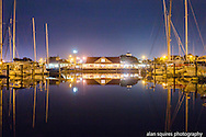 town basin at night, whangarei