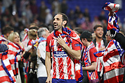 Diego Gudin of Atletico Madrid celebrates during the Europa League Final match between Olympique de Marseille and Atletico Madrid at Orange Velodrome, Marseille, France on 16 May 2018. Picture by Ahmad Morra.