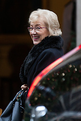 London, UK. 6th December, 2018. Andrea Leadsom MP, Lord President of the Council and Leader of the House of Commons, arrives at 10 Downing Street for a special Cabinet meeting called to discuss the latest developments regarding Brexit.