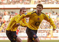 Photo: Glyn Thomas.<br />Charlton Athletic v Arsenal. The Barclays Premiership.<br />26/12/2005.<br /> Arsenal's Jose Antonio Reyes (R) celebrates with Alexander Hleb after scoring a goal.
