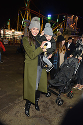 LAUREN SILVERMAN and her son ERIC at the Hyde Park Winter Wonderland - VIP Preview Night, Hyde Park, London on 17th November 2016.