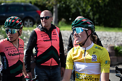 Demi Vollering (NED) of Parkhotel Valkenburg Cycling Team cools down after Stage 2 of 2019 Festival Elsy Jacobs, a 111.1 km road race starting and finishing in Garnich, Luxembourg on May 12, 2019. Photo by Balint Hamvas/velofocus.com