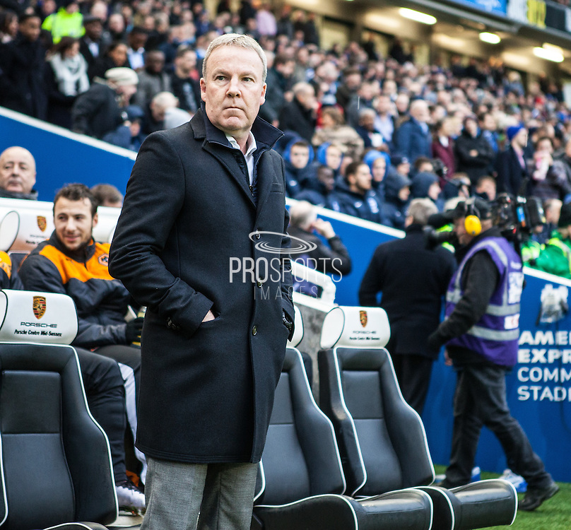 Wolverhampton Wanderers Manager Kenny Jackett during the Sky Bet Championship match between Brighton and Hove Albion and Wolverhampton Wanderers at the American Express Community Stadium, Brighton and Hove, England on 1 January 2016. Photo by Bennett Dean.