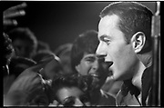 Joe Strummer, lead singer of the Clash, at the Roxy, Los Angeles. (Photo: Ann Summa).