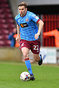 Scunthorpe United defender Conor Townsend (22)  during the EFL Sky Bet League 1 match between Scunthorpe United and Chesterfield at Glanford Park, Scunthorpe, England on 17 April 2017. Photo by Ian Lyall.