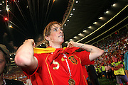 Scorer of the winning goal, Fernando Torres of Spain with a winners medal around his neck