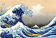Hokusai (1760-1849) Japanese artist. 'The Wave'