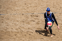 25-08-2018 NED: DELA Beach NK Volleyball, Scheveningen<br /> Robert Meeuwsen NED #2