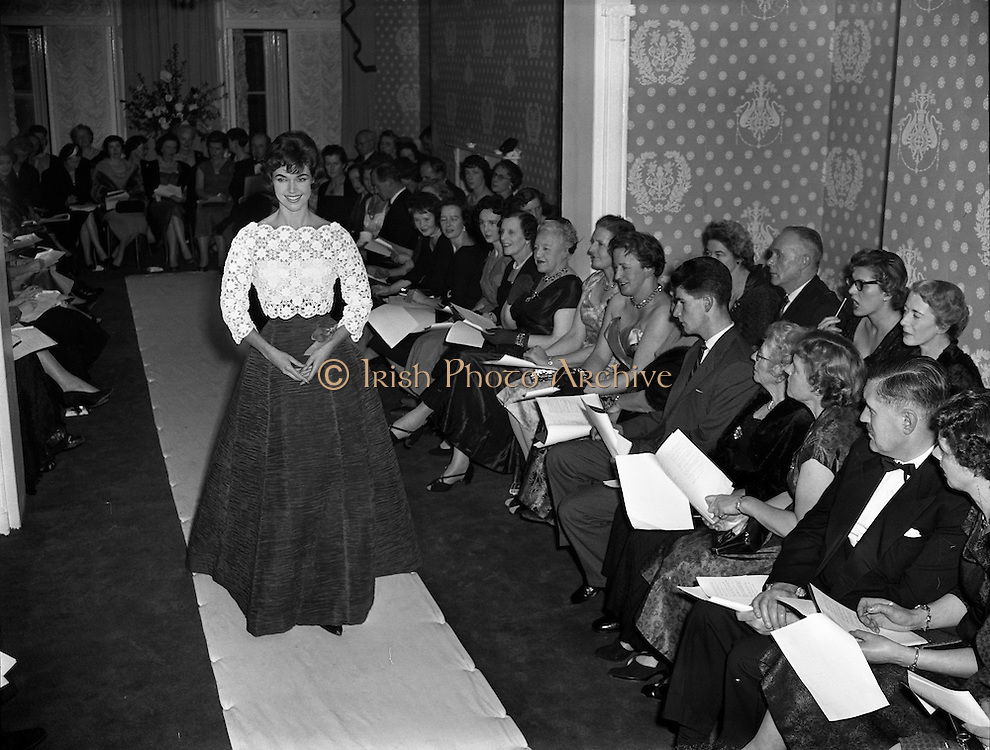 Sybil Connolly Fashion Show at New Premises at Merrion Square, Dublin, Ireland. 17/01/1958.