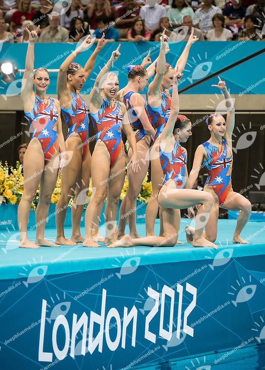 Team Japan.Team Final .London 2012 Olympics - Olimpiadi Londra 2012.day 15 Aug.10 Synchronized Swimming.Photo G.Scala/Deepbluemedia.eu/Insidefoto