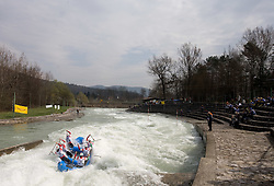 Kanyon Raft Team of Hungary at Euro Cup 2009 R6 Rafting in TT & H2H and Slovenian National Championship 2009, on April 4, 2009, in Tacen, Ljubljana, Slovenia. (Photo by Vid Ponikvar / Sportida)