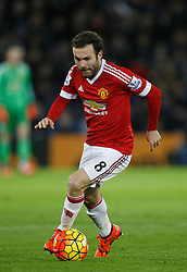 Juan Mata of Manchester United in action  - Mandatory byline: Jack Phillips/JMP - 07966386802 - 28/11/2015 - SPORT - FOOTBALL - Leicester - King Power Stadium - Leicester City v Manchester United - Barclays Premier League