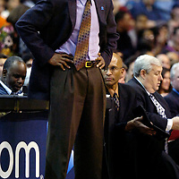 10 March 2007:   New York Knicks coach Isiah Thomas reacts after being given a technical foul in the second half during the game against the Washington Wizards at the Verizon Center in Washington, D.C.  The Knicks defeated the Wizards 90-89.