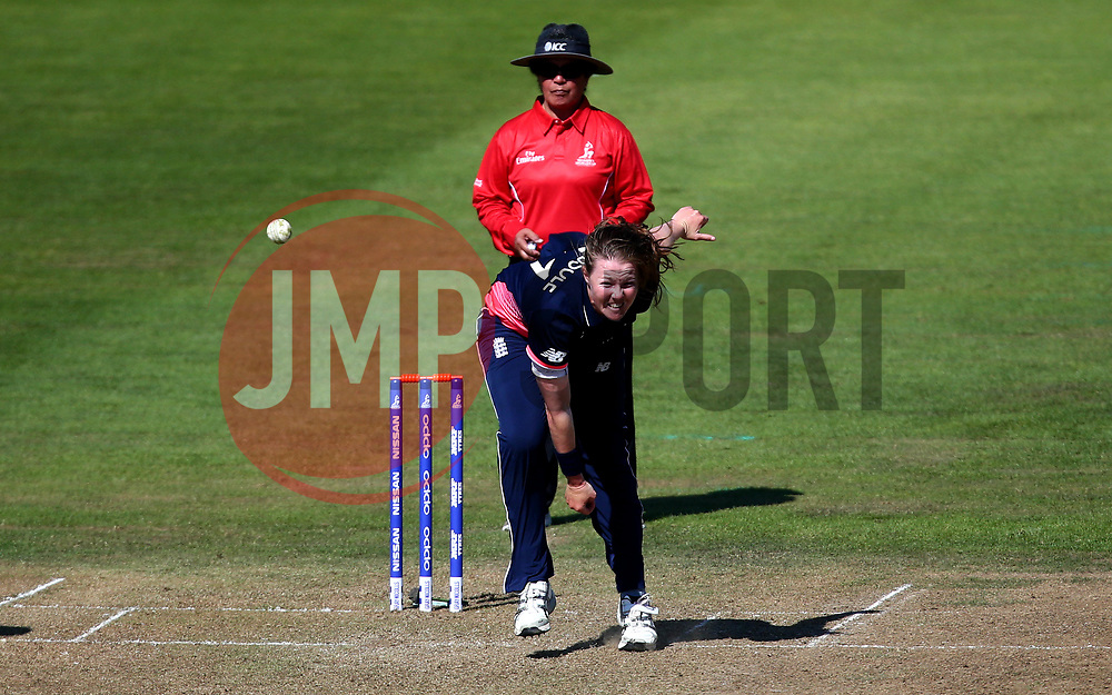 Anya Shrubsole of England Women bowls - Mandatory by-line: Robbie Stephenson/JMP - 05/07/2017 - CRICKET - County Ground - Bristol, United Kingdom - England Women v South Africa Women - ICC Women's World Cup Group Stage