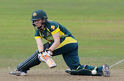 Australia's Alex Blackwell sweeps the ball - Photo mandatory by-line: Harry Trump/JMP - Mobile: 07966 386802 - 21/07/15 - SPORT - CRICKET - Women's Ashes - Royal London ODI - England Women v Australia Women - The County Ground, Taunton, England.