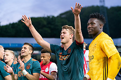 15-05-2019 NED: De Graafschap - Ajax, Doetinchem<br /> Round 34 / It wasn't really exciting anymore, but after the match against De Graafschap (1-4) it is official: Ajax is champion of the Netherlands / Matthijs de Ligt #4 of Ajax, Andre Onana #24 of Ajax