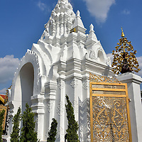 Tha Singha Gate at Wat Phra That Hariphunchai in Lamphun, Thailand<br />