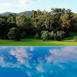 Infinite reflections in the pool of a private villa. Australia