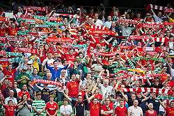 10.08.2013, Aviva Stadium, Dublin, Essen, IRL, Testspiel, Glasgow Celtic vs FC Liverpool, im Bild Liverpool supporters sing 'You'll Never Walk Alone' before a friendly match between Glasgow Celtic vs Liverpool FC at the Aviva Stadium in Dublin, Ireland on 2013/08/10. EXPA Pictures © 2013, PhotoCredit: EXPA/ Propagandaphoto/ David Rawcliffe<br /> <br /> ***** ATTENTION - OUT OF ENG, GBR, UK *****