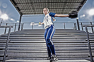 Barbers Hill pitcher Randi Rupp, who is the Chronicle's All-Greater Houston softball pitcher of the year poses for a picture in the stands at Barbers High School softball field stands in  Mont Belvieu, Texas, 77580 .