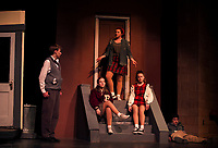Little Shop of Horrors dress rehearsal with Gilford High School.  Karen Bobotas for the Laconia Daily Sun