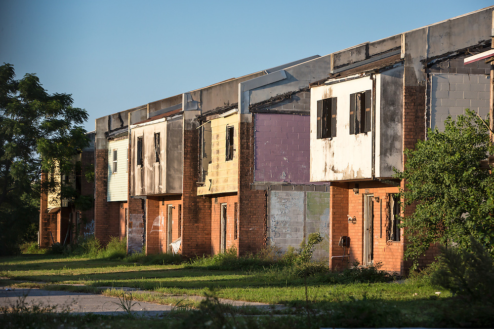 Aug. 23, 2015, Blighted housing units in Press Park a public housing project built on top of toxci land that was destroy by Hurricane Katrina, and never rebuilt, in New Orleans Uppter 9th Ward, ten years after Hurricane Katrina. Here is a report on the area in New Orleans' Upper 9th Ward for DeSmogBlog: A Forgotten Community in New Orleans: Life on a Superfund Site http://www.desmogblog.com/2014/06/22/forgotten-community-new-orleans-life-superfund-site