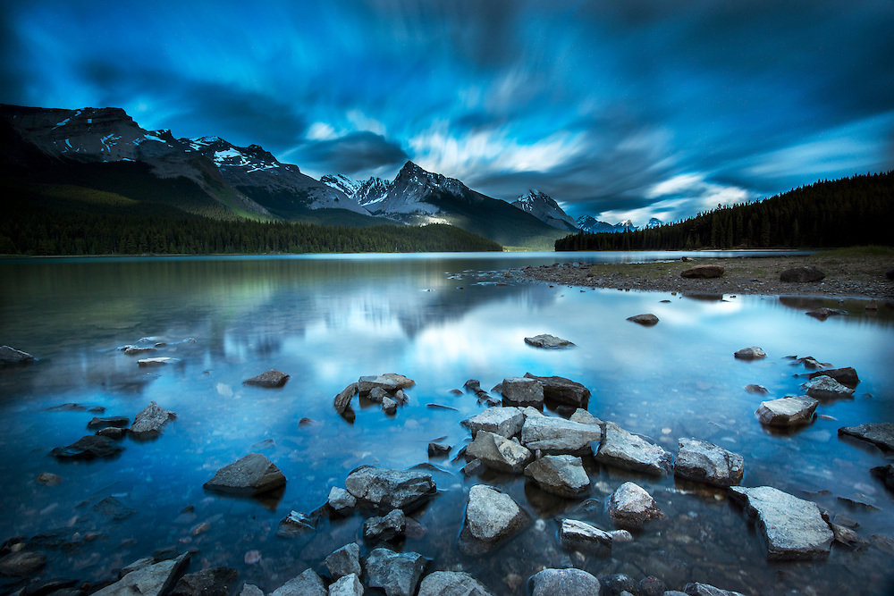 Lake Maligne in Jasper National Park, Canada