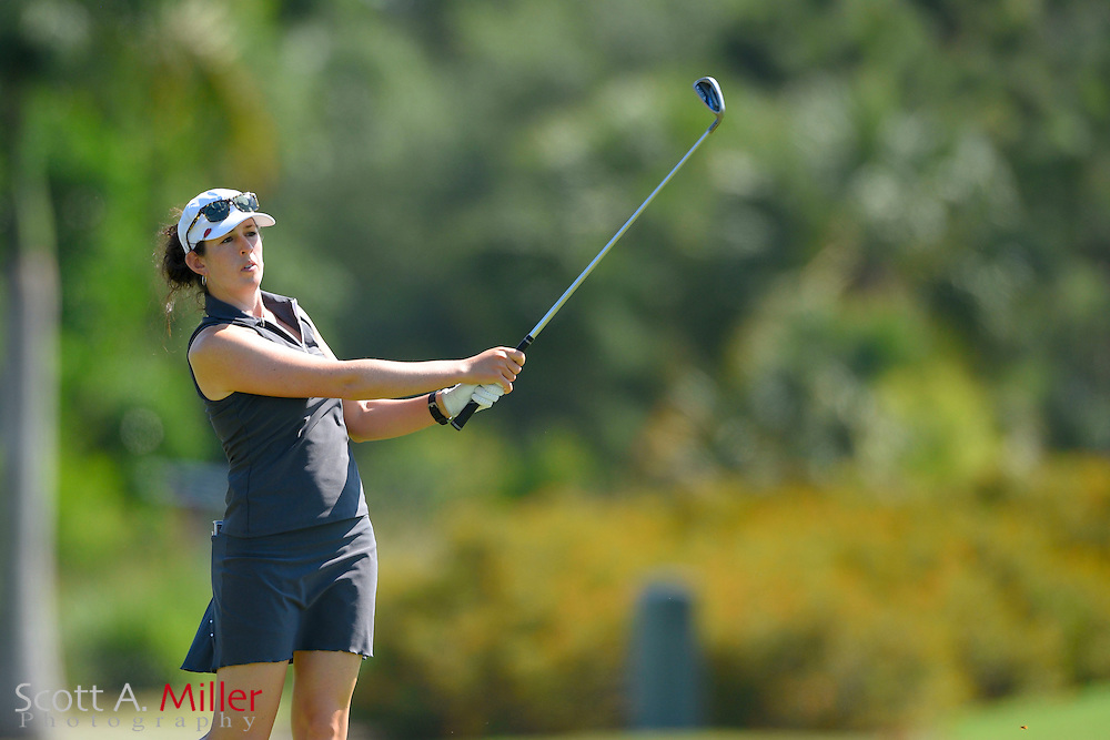 Emma Jandel during the final round of the Chico's Patty Berg Memorial on April 19, 2015 in Fort Myers, Florida. The tournament feature golfers from both the Symetra and Legends Tours.<br /> <br /> &copy;2015 Scott A. Miller