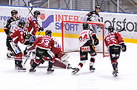 2019-12-30 | Umeå, Sweden: Hudiksvall (24) Axel Levander sets the last goal in this match to 2-6 in AllEttan during the game  between Teg and Hudiksvall at A3 Arena ( Photo by: Michael Lundström | Swe Press Photo )<br /> <br /> Keywords: Umeå, Hockey, AllEttan, A3 Arena, Teg, Hudiksvall, mlth191230